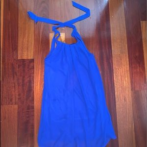 monteau blue dress